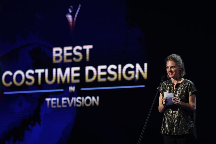Xanthe Heubel accepts the AACTA Award for Best Costume Design.