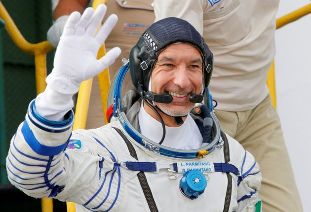 Italian astronaut Luca Parmitano, crew member of the mission to the International Space Station (ISS),...