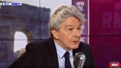 Thierry Breton dément avoir perçu 45 millions d'euros avec la vente de ses actions