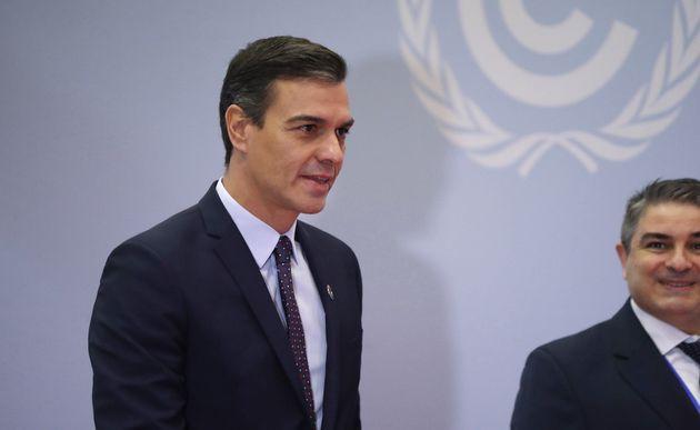 El presidente del Gobierno español en funciones, Pedro