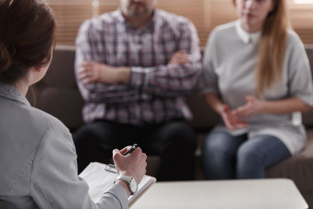 Close-up of therapist for couples