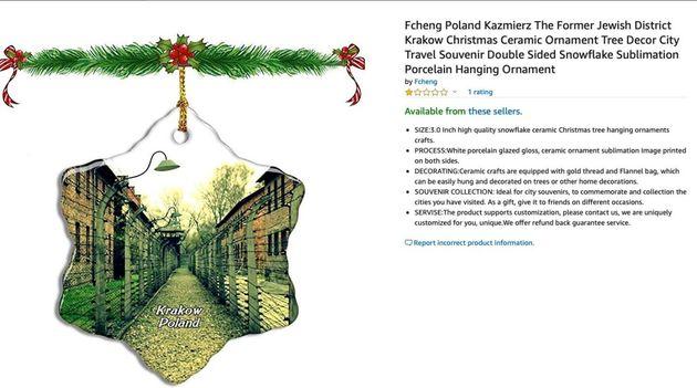 Οργή για τα χριστουγεννιάτικα στολίδια με εικόνες από το Αουσβιτς στο