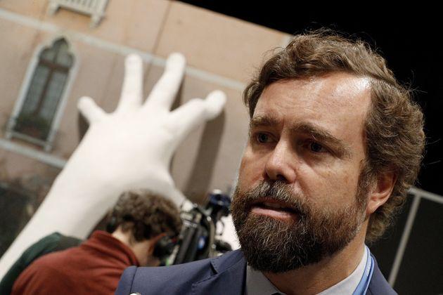 El portavoz parlamentario de Vox, Iván Espinosa de los