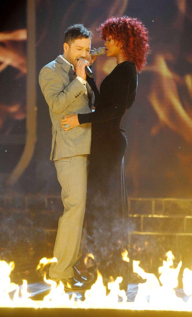 Rihanna performing with X Factor winner Matt Cardle in