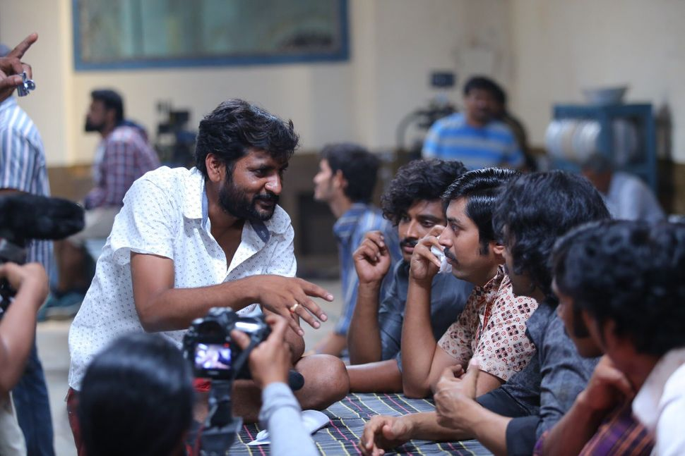 Jeevan Reddy on the sets of&nbsp;<i>George Reddy: A man of action</i>&nbsp;