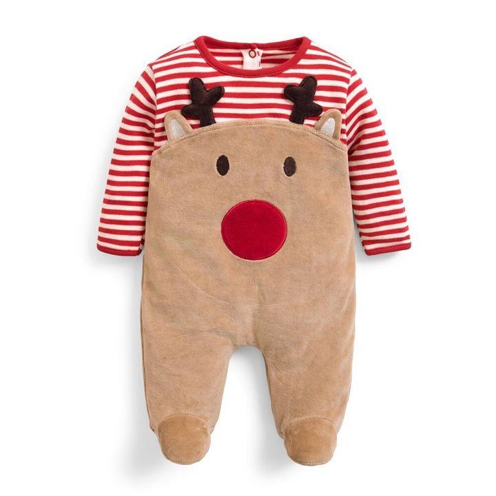 Red Reindeer Sleepsuit
