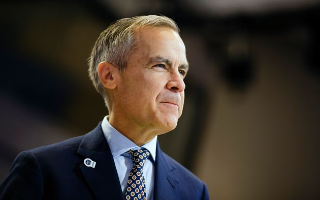 Mark Carney, governor of the Bank of England and former governor of the Bank of Canada, at an IMFC meeting...