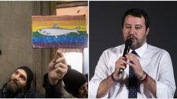 Le sardine inseguono Salvini fino ad