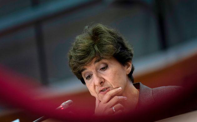Sylvie Goulard (ici le 10 octobre 2019) mise en examen dans l'affaire des emplois fictifs du