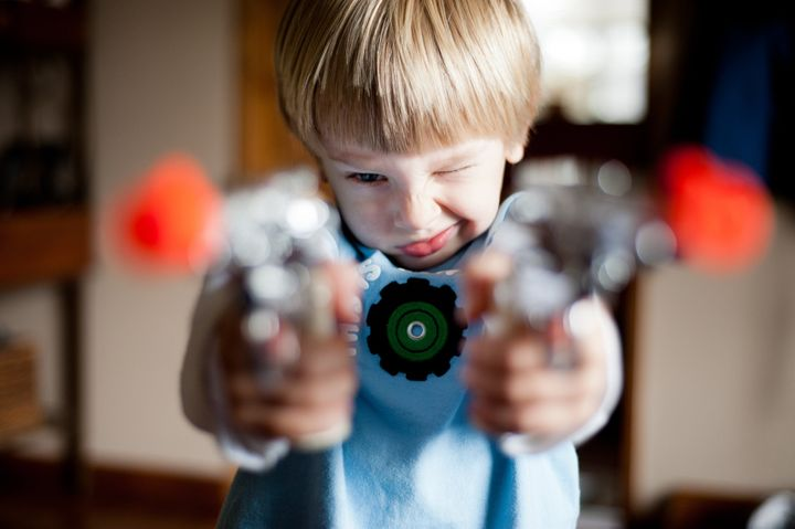 Parents should see gunplay as an opportunity to help teach children about limits on aggression, one child psychologist says.