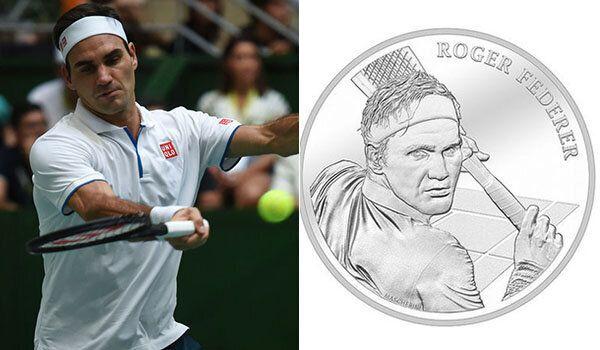 Re Roger Federer sarà su una