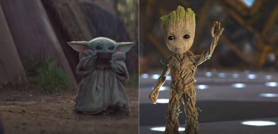 Baby Yoda VS Baby Groot, lequel est le plus mignon