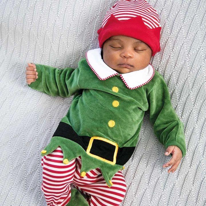 Baby Elf Sleepsuit with Hat Set