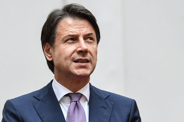 Italy's Prime Minister Giuseppe Conte waits for the arrival of Portugal's President for their meeting...