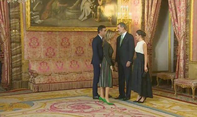 Los reyes de España, Pedro Sánchez y Begoña