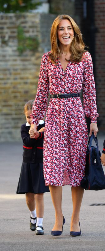 Catherine, Duchess of Cambridge on Princess Charlotte's first day of school in London on Sept. 5.