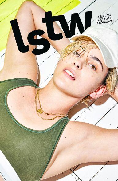 En couverture Jacqueline Toboni, nouveau visage de la série hollywoodienne The L Word, photographiée par l'artiste de renom Michelle Groskopf.