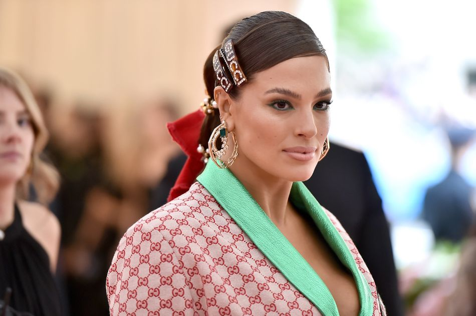 Ashley Graham at the Met Gala in New York City on May 6. Makeup by Kate Synnott. Hair by Justine Marjan.