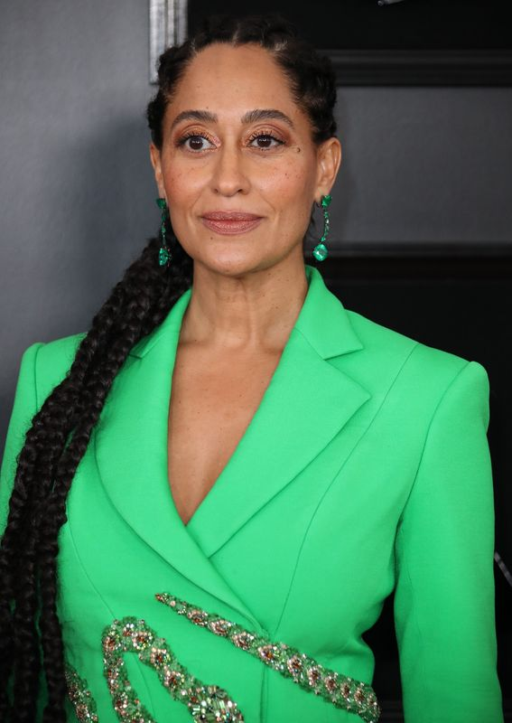 Tracee Ellis Ross at the Grammys in Los Angeles on Feb. 10. Makeup by Lisa Storey using Pat McGrath products. Hair by Araxi Lindsey.