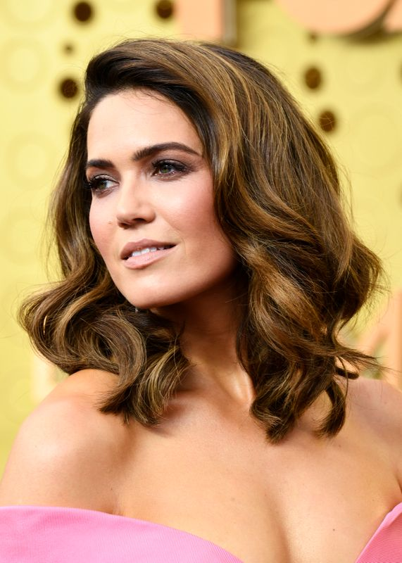 Mandy Moore at the Emmys in Los Angeles on Sept. 11. Makeup by Jenn Streicher. Hair by Ashley Streicher.