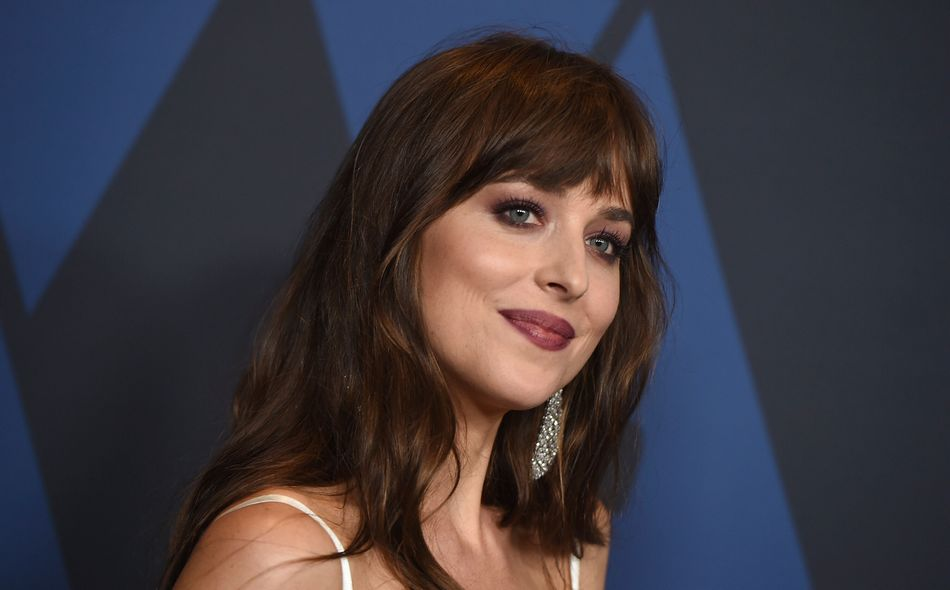 Dakota Johnson at the Governors Awards in Los Angeles on Oct. 27.
