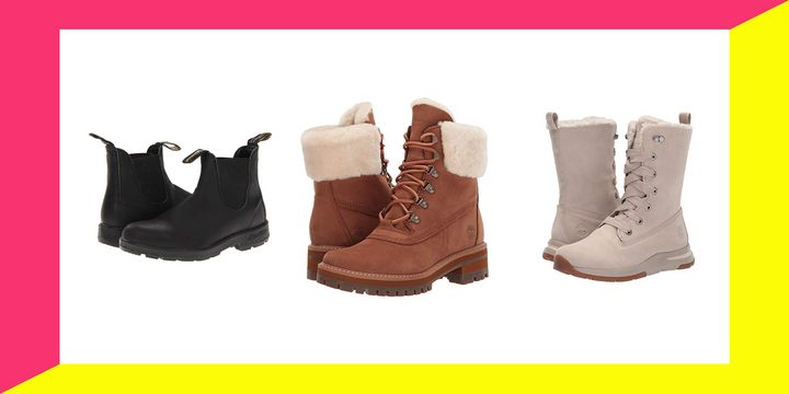 "The best deal we&rsquo;ve spotted is <a href=""https://fave.co/2OInLgx"" target=""_blank"" rel=""noopener noreferrer"">$60 off these shearling-cuffed Timberlands</a> that are available in black, brown and gray."