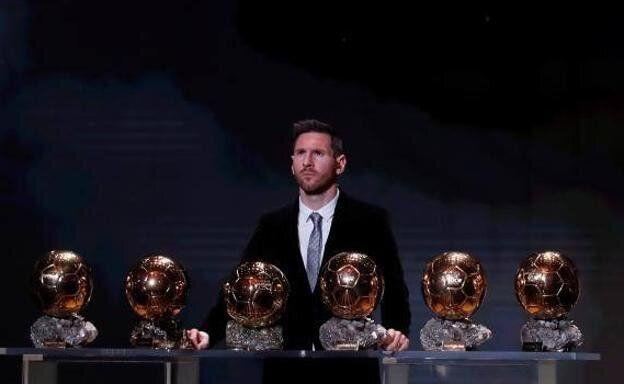 Messi, con sus seis Balones de