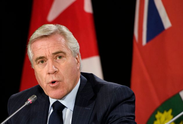 Premier of Newfoundland and Labrador Dwight Ball speaks to reporters in Mississauga, Ont. on Dec. 2,