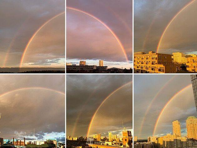 首都圏に現れた虹