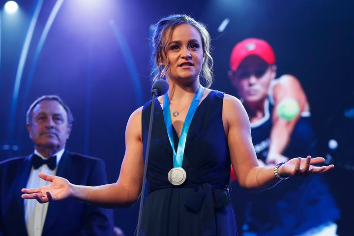 """Ash Barty said she was """"incredibly grateful and very humbled"""" after being awarded with the Newcombe Medal."""