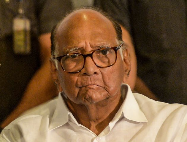 National Congress party president Sharad Pawar at a press conference in Mumbai on November 12,