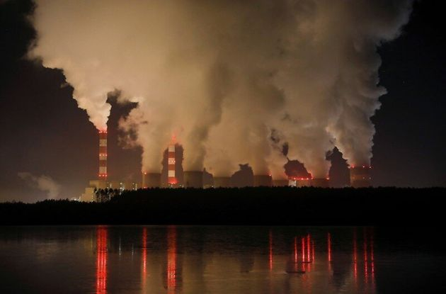 Smoke and steam billows from Belchatow Power