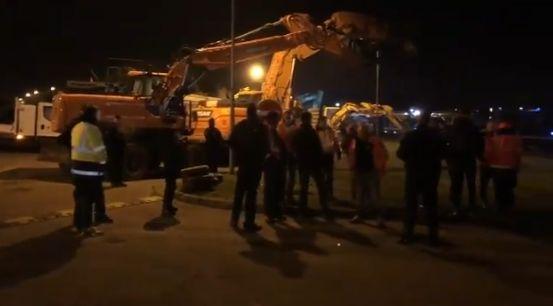 Les gendarmes ont évacué le dépôt pétrolier de