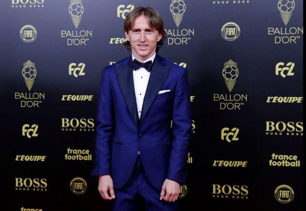 Luka Modric en la gala del Balón de