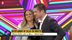 El beso en directo entre Alfonso Merlos y Marta López ('GH 2') en 'Ya es