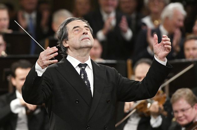 Italian Maestro Riccardo Muti conducts the Vienna Philharmonic Orchestra during the traditional New Year's...