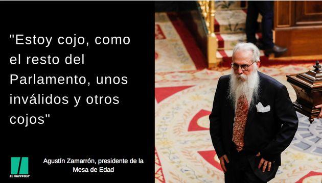 Frases de Agustín Zamarrón, presidente de la Mesa de
