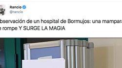 El cartel visto en un hospital de Andalucía para tapar una mampara rota: arte en un
