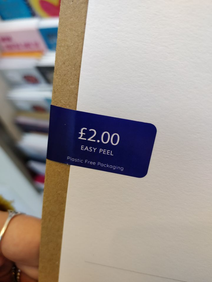 One option Sainsbury's uses to ditch plastic packaging on cards.