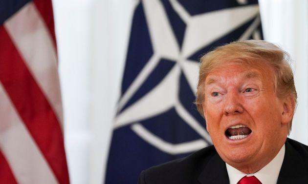 El presidente de EEUU, Donald Trump, este lunes durante la cumbre de la