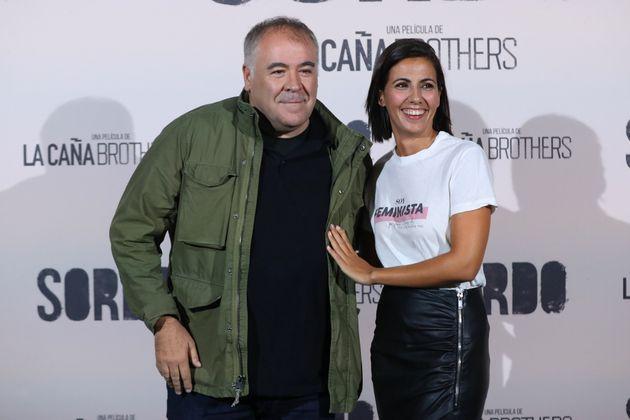 Antonio García Ferreras y Ana Pastor, en el estreno de 'Sordo' el 11 de septiembre de