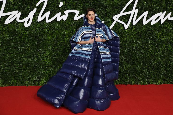 """Shailene Woodley can keep all of her """"Big Little Lies"""" hidden in this massive Moncler number."""
