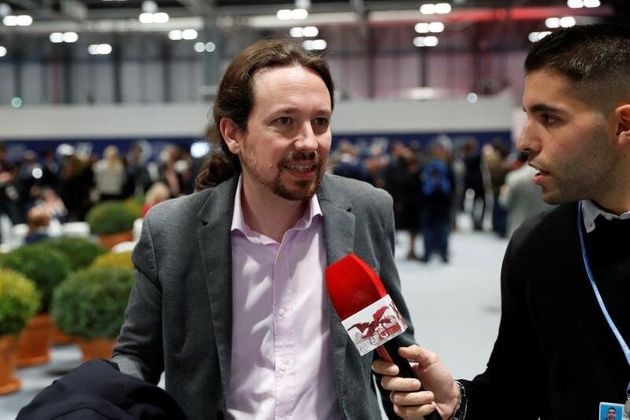 El líder de Unidas Podemos, Pablo Iglesias, al inicio de la vigésimo quinta conferencia del clima de...
