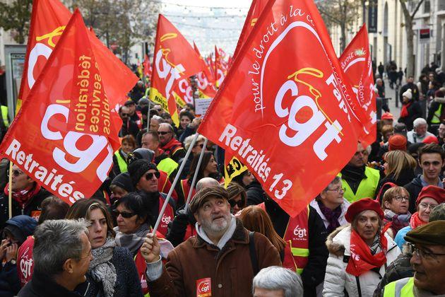 Image d'illustration / Une manifestation de retraités à Marseille, le 15 décembre