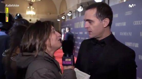 Susi Caramelo entrevistando a Pedro Alonso