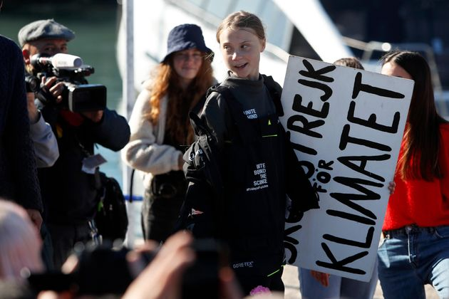 Climate activist Greta Thunberg arriving in Lisbon on Tuesday. Her activism has spurred a lot of people to see climate change as an existential threat.