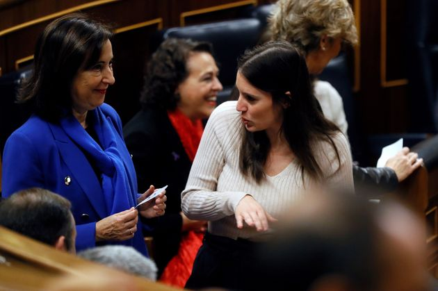 Margarita Robles, Irene Montero y Magdalena