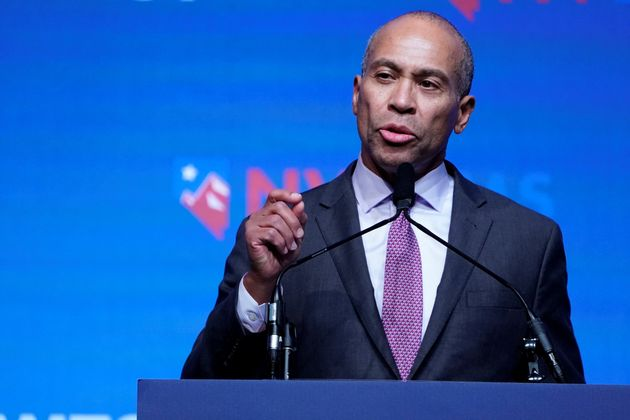 Former Massachusetts Gov. Deval Patrick (D), seen here speaking in Las Vegas, faces questions about his...