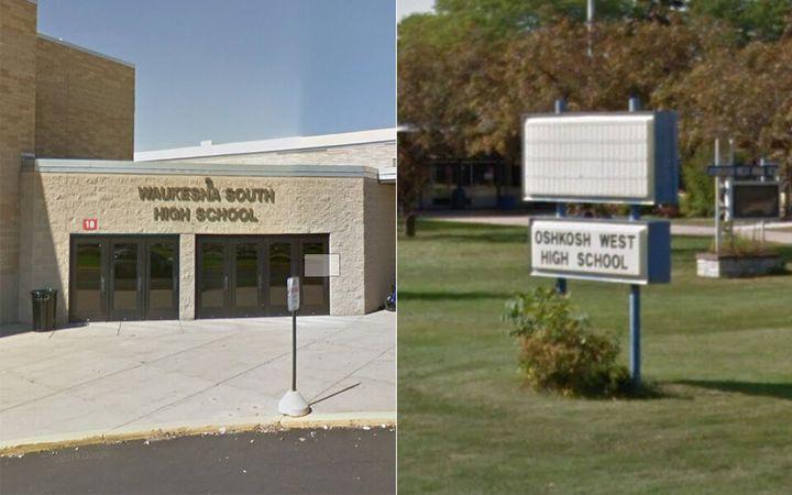 Waukesha South High School, left, and Oshkosh West High School.