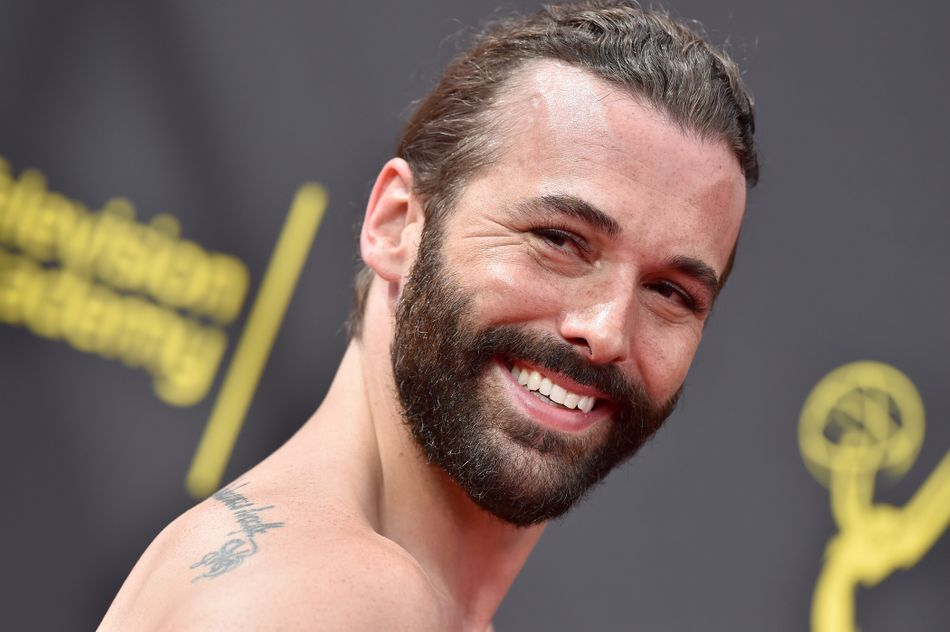Jonathan Van Ness at the Creative Arts Emmys on Sept. 4. Hair and makeup by Jonathan Van Ness and Patty Carrillo.